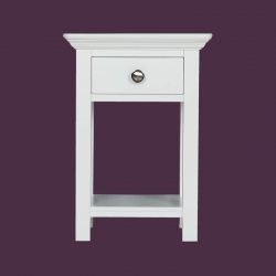 white open bedside locker
