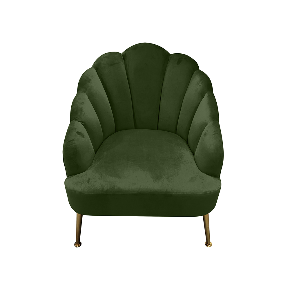 Shell-Army-Green-Chair-side